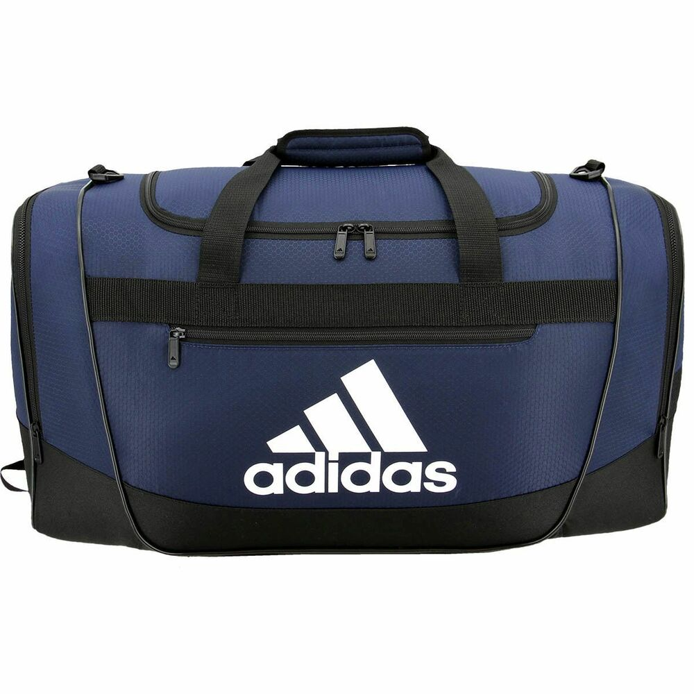 72b0525c1 Details about New ADIDAS Defender III Medium Duffel Workout Gym Carry On Bag  Duffle Navy Blue
