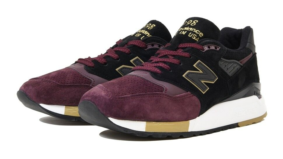 Details about  220 New Balance 998 M998NYM NYC Marathon Dark Red   Black  Sneakers Made in USA 0157193b164