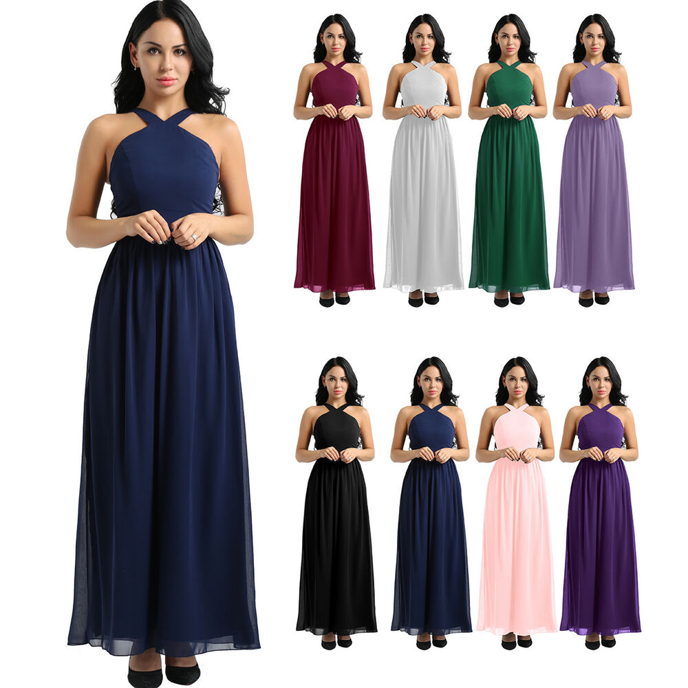 fcd25be72fd Details about Women Formal Wedding Bridesmaid Long Dress Evening Party Prom  Ball Gown Cocktail