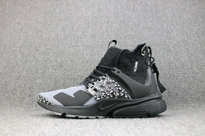 sale retailer 10698 b4c84 Details about Acronym x Nike Air Presto Mid Cool Grey Black White  AH7832-001 Size 4