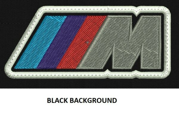 **LOVE IT OR IT'S FREE** M PERFORMANCE BMW EMBROIDERED PATCH, IRON ON, FREE SHP