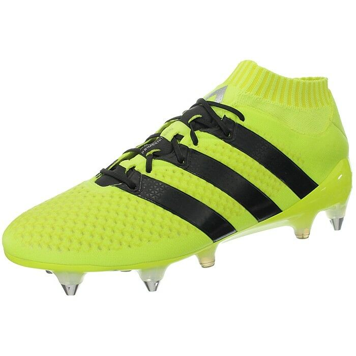 Details about Adidas ACE 16.1 Primeknit SG yellow black men s soccer cleats football  boots NEW 740e56c3bb2a
