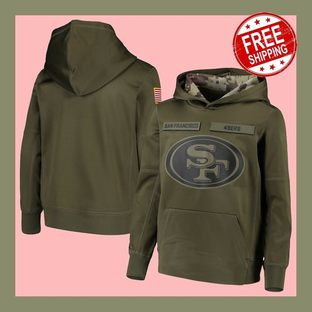 af00edf82 Details about Men s San Francisco 49ers Sweatshirt Salute to Service  Sideline Therma Hoodie 🔥