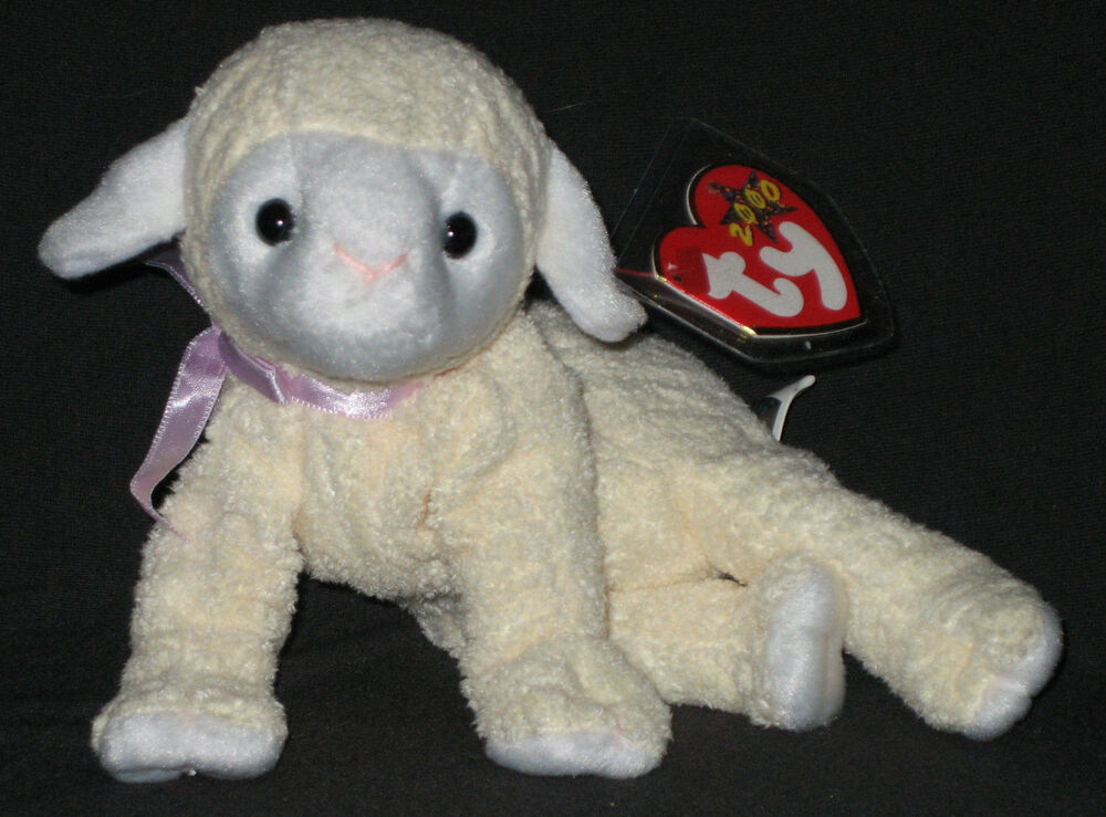 b0cf7805ba4 Details about TY FLEECIE the LAMB BEANIE BABY - MINT with MINT TAGS