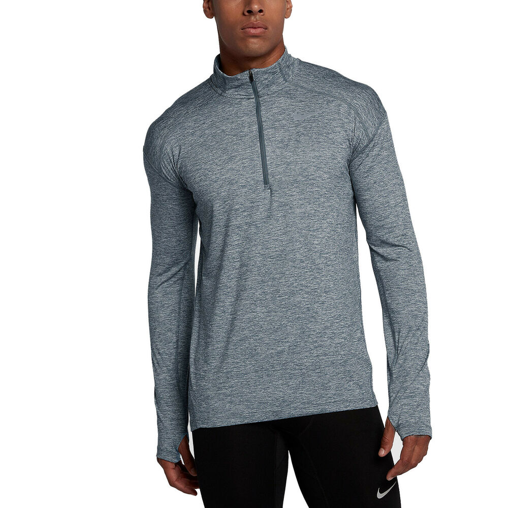 2cb2980f28db Details about Men s Nike Dry Element Half 1 2 Zip Running Top Blue   Grey  Sz M 857820 497