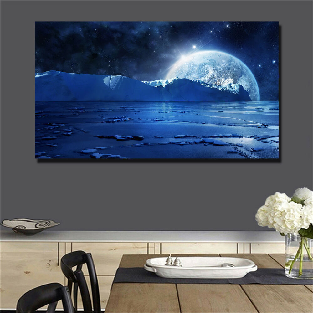 Details about large art prints home decor canvas painting wall art wonderful space