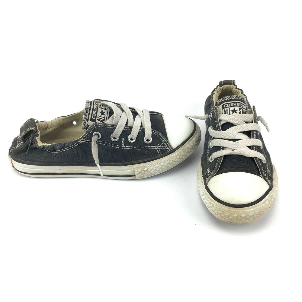 3baebf3ca2c6 Details about Converse Chuck Taylor All Star Shoreline Slip On Shoes Junior  Size 3 Navy Blue