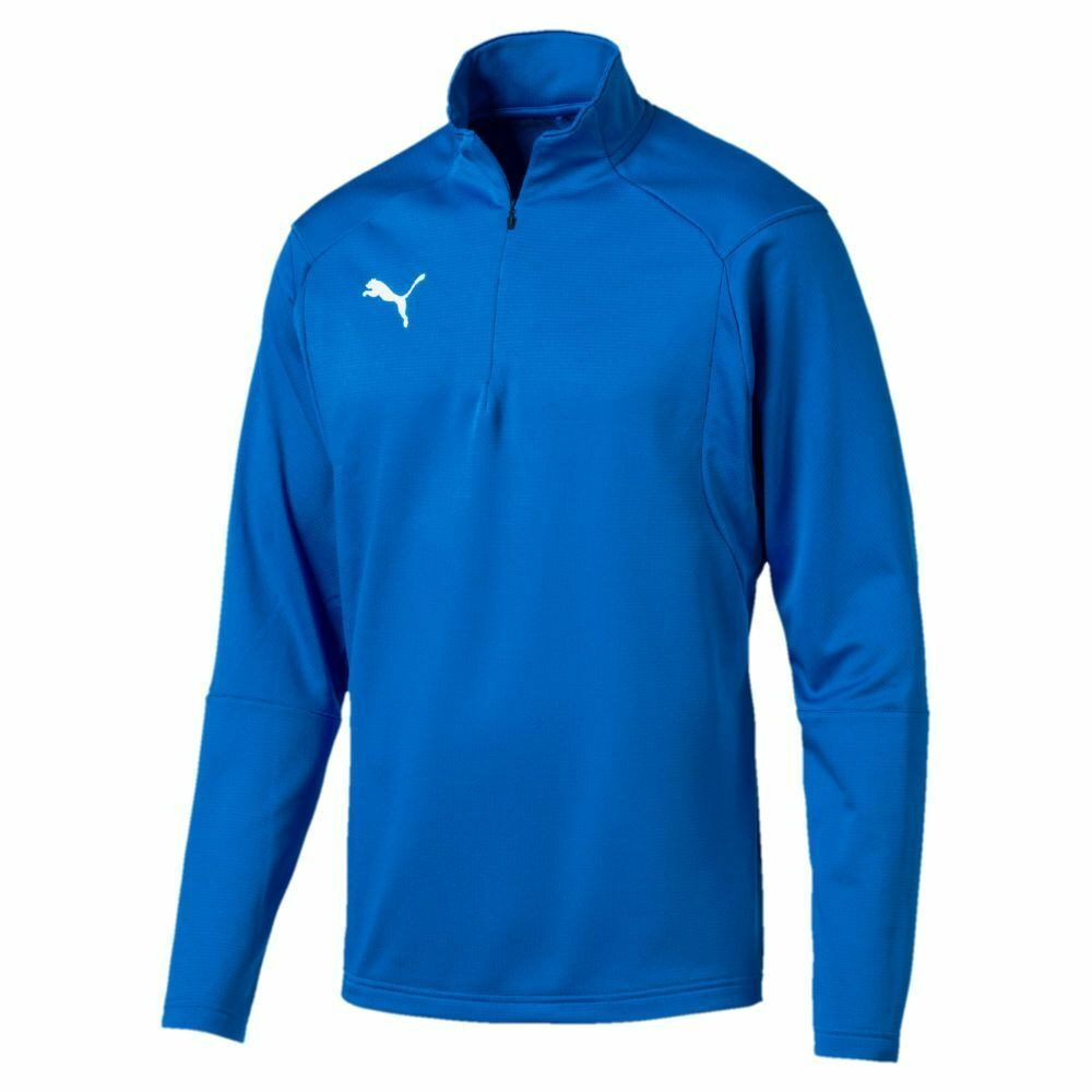 81775de7f2d1 Details about Puma Kids Sport Football Soccer Liga Training 1 4 Zip Long  Sleeve Top Sweatshirt