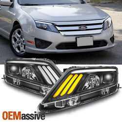 Kyпить 10-12 Ford Fusion Projector Headlights w/LED Sequential Turn Signal 2010-2012 на еВаy.соm