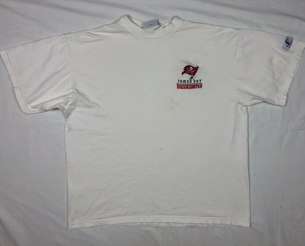 Details about Vtg 90s Logo Athletic Tampa Bay Buccaneers Mens XL White S S T -Shirt C9 985dd4718