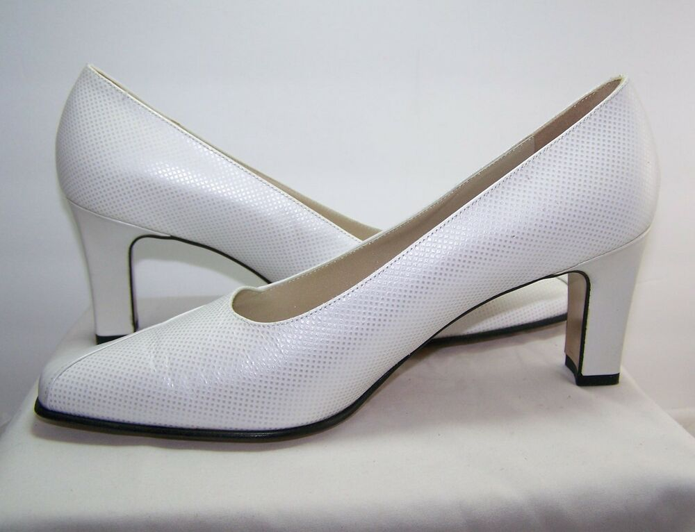 a65b4555c4d Details about Peter Kaiser White Pearl All Leather Pumps 3 inch Heels New  Size 7.5 Germany