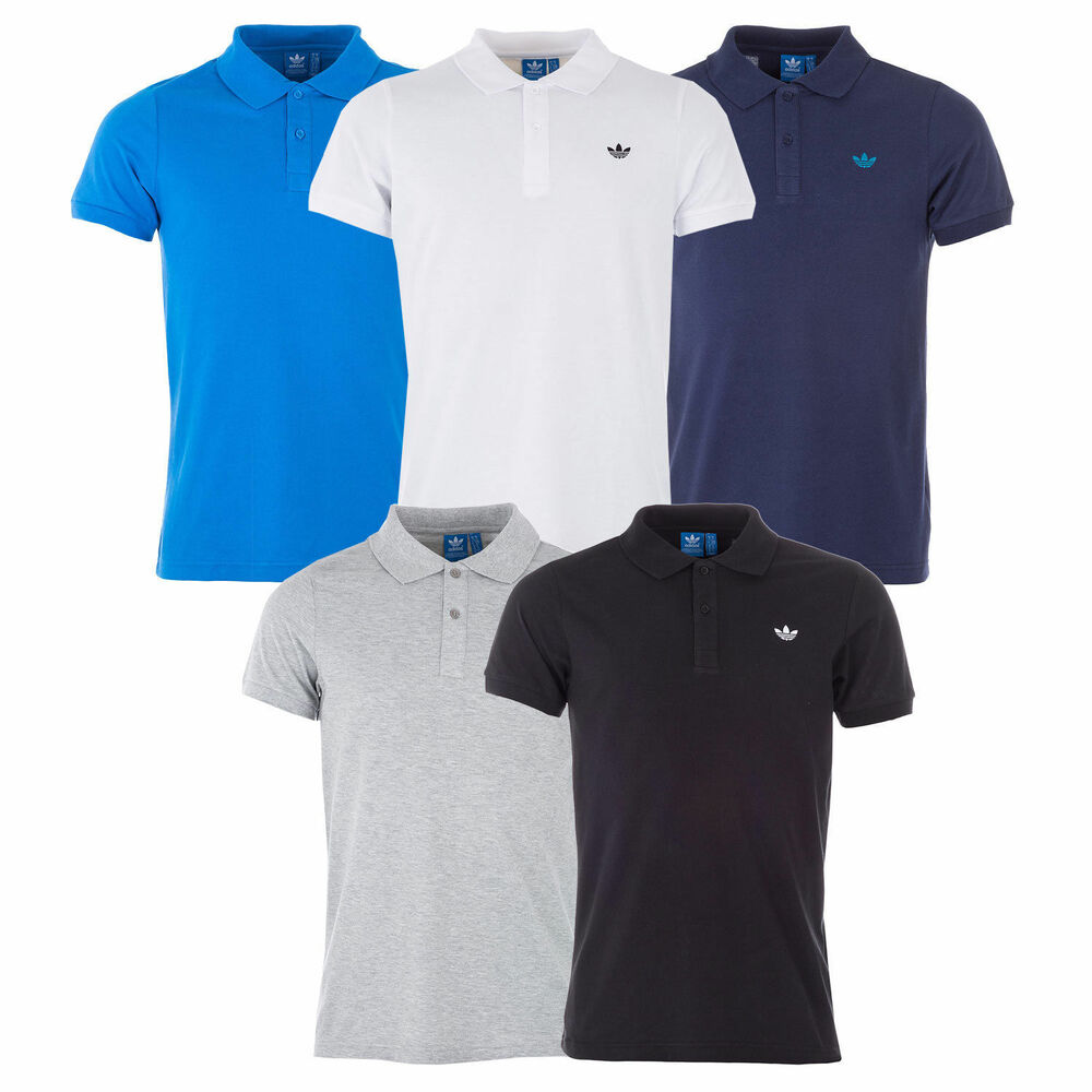 0d34dc2ff6 Details about Adidas Originals Mens Adi Pique Polo Shirt Golf Shirts Tee  All Sizes Colours