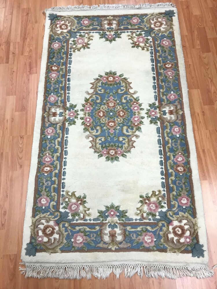 3 X 5 Chinese Aubusson Oriental Rug Full Pile Hand Made 100