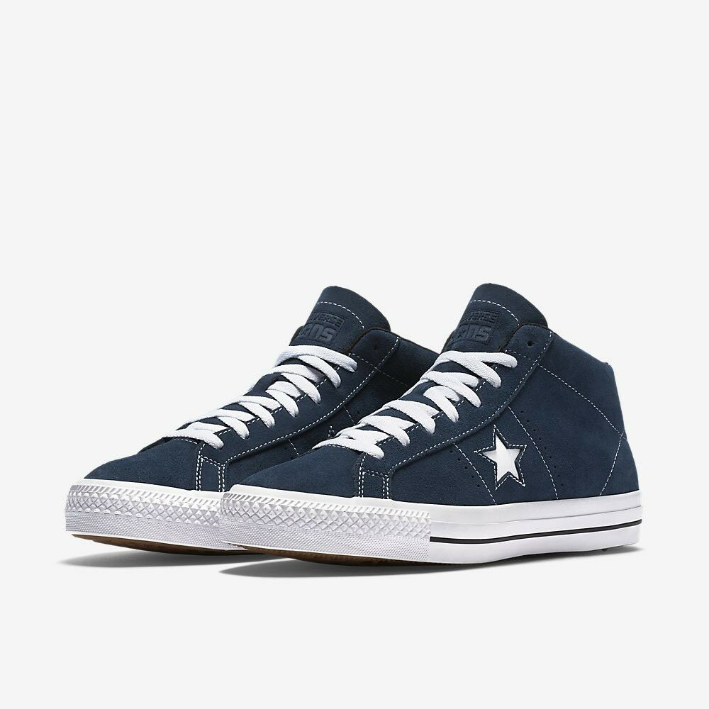 63bbeeb1eb3f Details about Converse CONS One Star Pro Suede Trainers Navy White Black  Men s 153473C 11-11.5