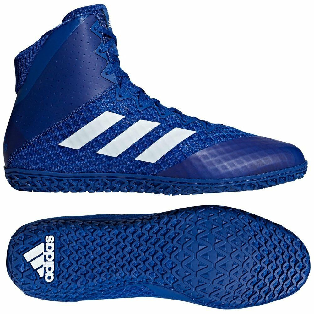 Details about Adidas Mat Wizard 4 Wrestling Boots Adult Mens Womens Blue  Boxing Shoes Gym Foot 2038e2697