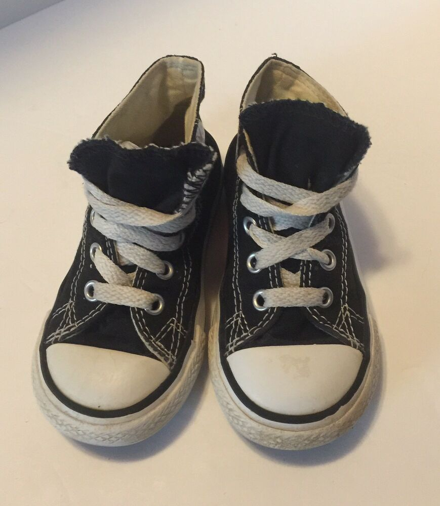 2a8a4e98d86575 Details about Converse Chuck Taylor All Star Infant Size 6 Black Sneakers  High Top