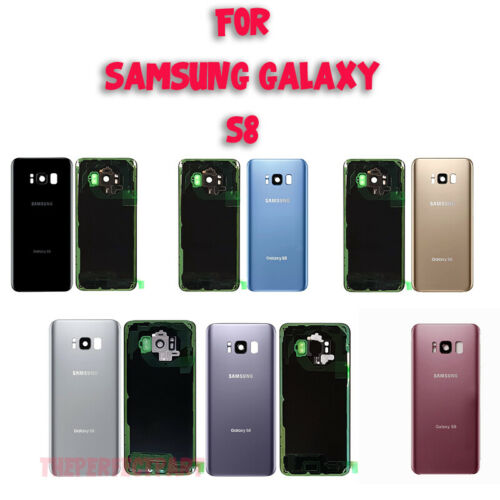 OEM Battery Cover Glass Housing Rear Back Door Lens For Samsung Galaxy S8 G950