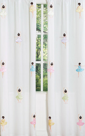 Details About Sweet Jojo Pink Ballerina Ballet Kid Window Treatment Panels Curtains Coverings