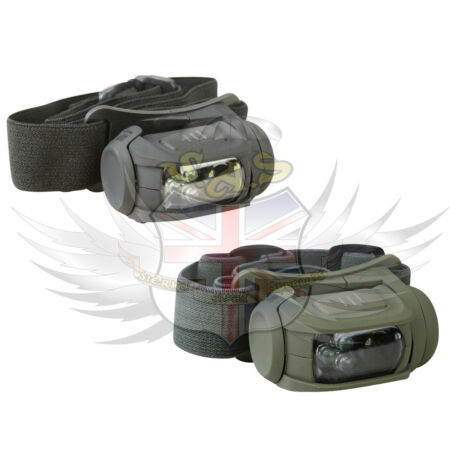 img-KOMBAT UK PREDATOR 2 HEADLAMP HEAD TORCH 5 FUNCTION LED 3 X AAA BATTERIES INC