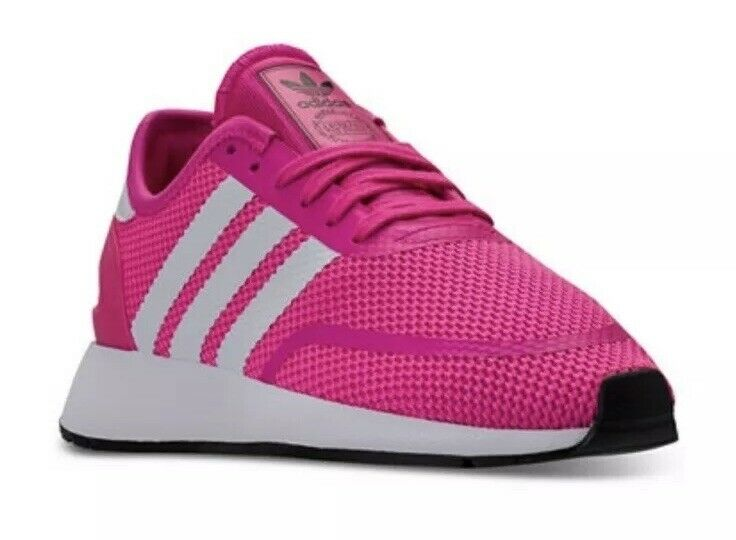 purchase cheap 819c0 448c6 Details about NEW GIRLS ADIDAS N-5923 B41572 ATHLETIC SHOES SIZE 5 PINK  WHITE