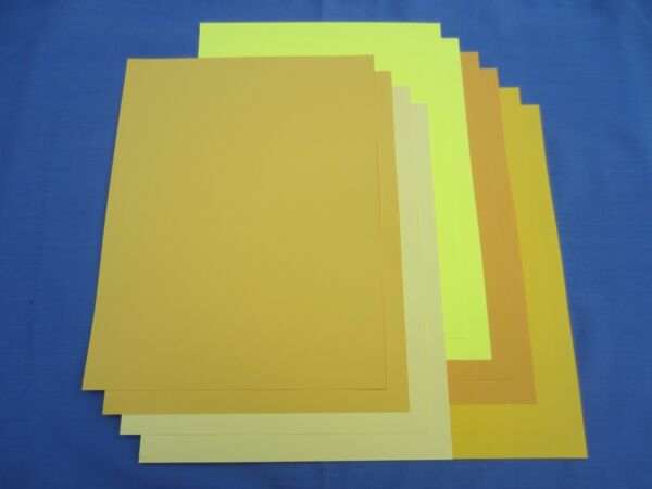 SALE!! 8.5 x 11 CARDSTOCK PAPER - SHADES OF YELLOW - LOT OF 10 SHEETS - NEW!!