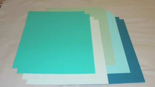 SALE!! 8.5 x 11 CARDSTOCK PAPER - AQUA/TURQUOISE - 10 SHEETS - NEW!!