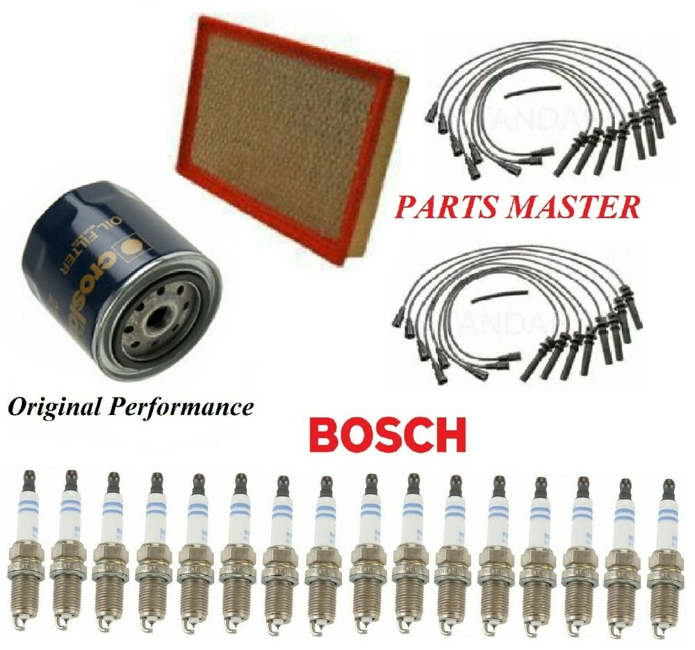 Tune Up Kit Air Oil Filters Wire Spark Plug For DODGE RAM