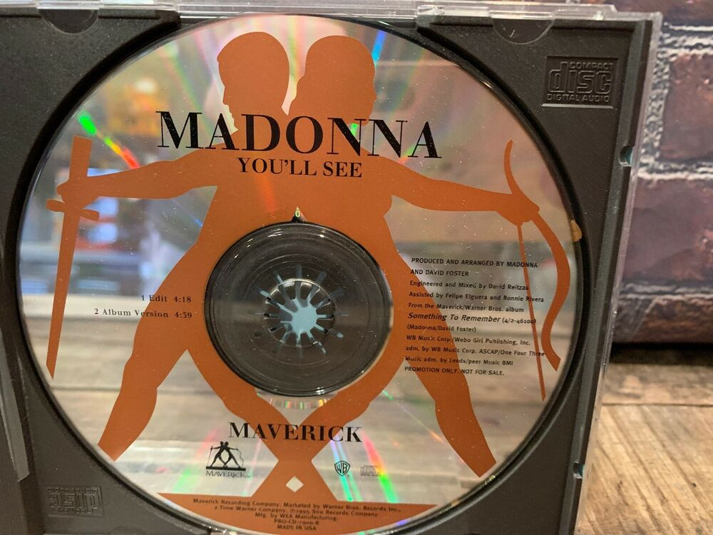 You'll See by Madonna (CD, PROMO Single) | eBay