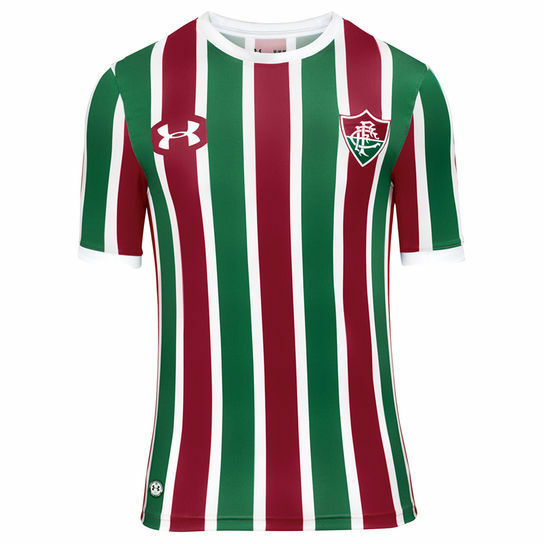 Fluminense Home Soccer Football Jersey Shirt - 2017 2018 Under Armour  b90ec55f74da3