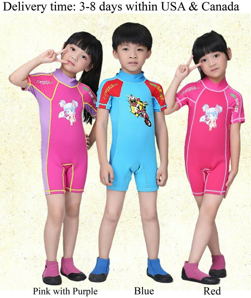 3cd4d10717 One Piece Wet Suit for Kids, 1.5mm Neoprene Wetsuit Kids Wet Suit , Dive &  Sail | eBay