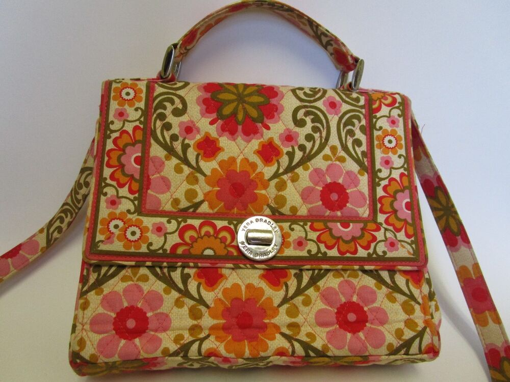 Details about Vera Bradley Retired Lizzy Folkloric Pattern   11451-105 Bag a1e46a985375f
