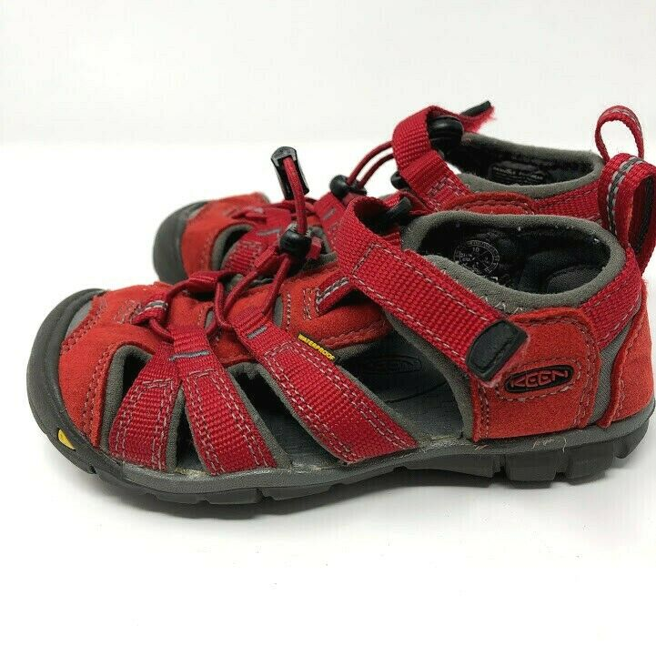 Details about Keen Youth Size 10 Youth Newport Waterproof Sandals Red  Outdoor Shoes