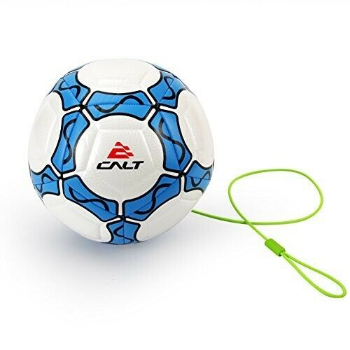 Details About Calt Training Soccer Ball Size 4 For Kids With String White Blue