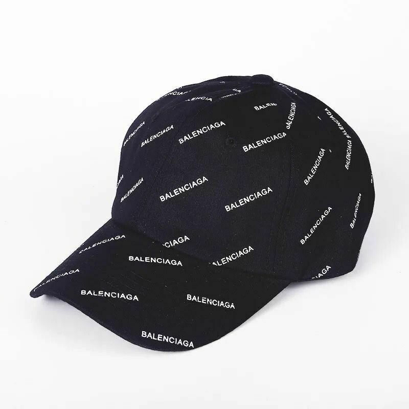44192c8af12 Details about   2019NEW Black baseball cap BALENCIAGA² embroidered strap  adjustable hat