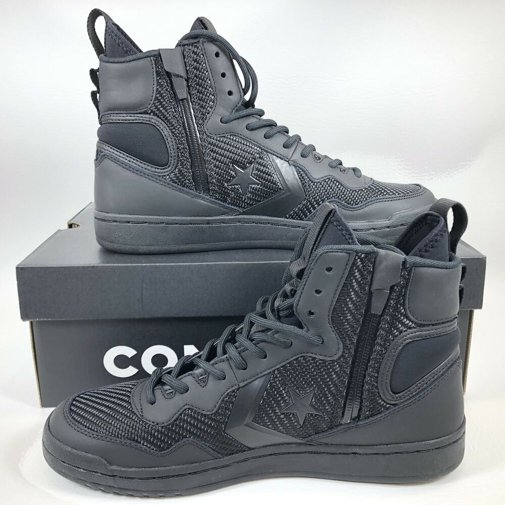 3cc150127a1 Details about Converse Fastbreak Cascade Leather High-Top Sneakers Black -  162558C - Size 10.5