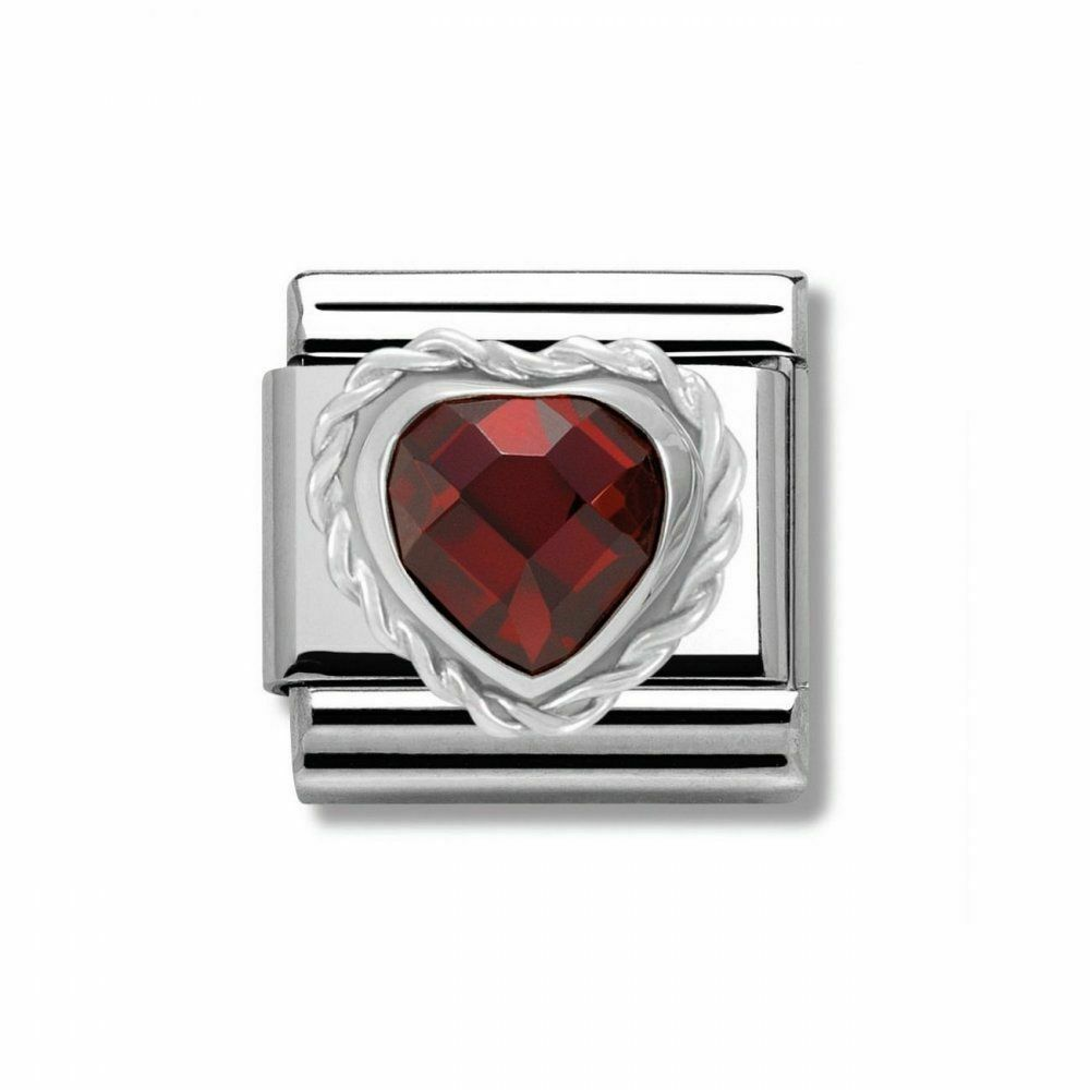 Details about NEW GENUINE NOMINATION CLASSIC CHARM - RED CZ Heart SET IN  STERLING SILVER 7ac441111c50