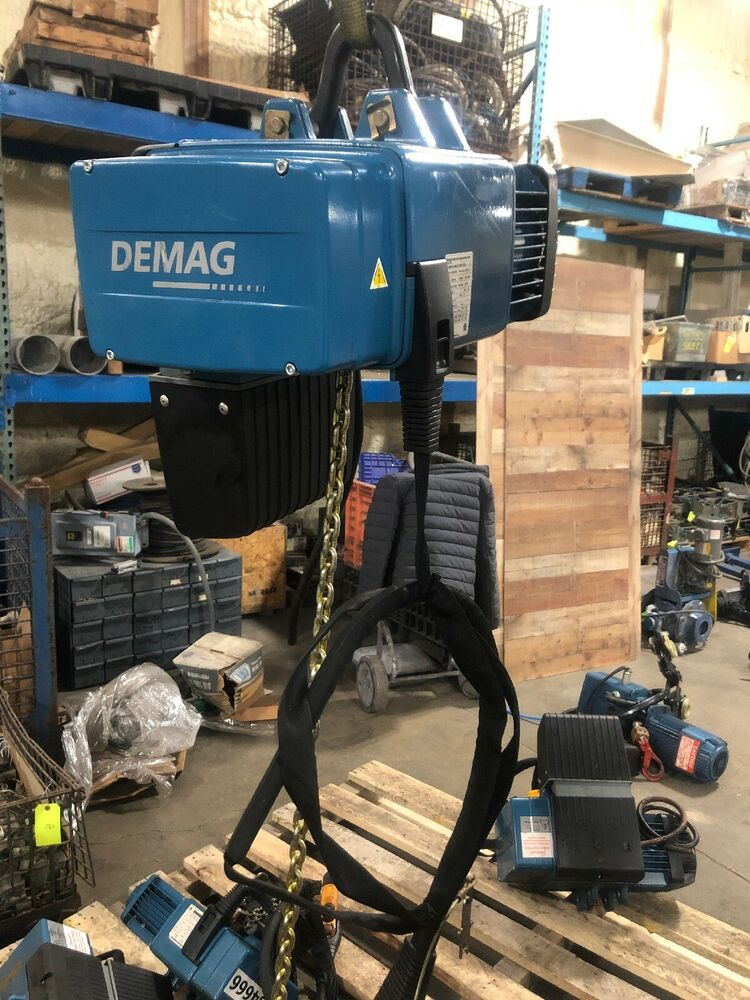 Demag 2200 Lb Electric Chain Hoist Dc 1 H5 V7 2  1 8