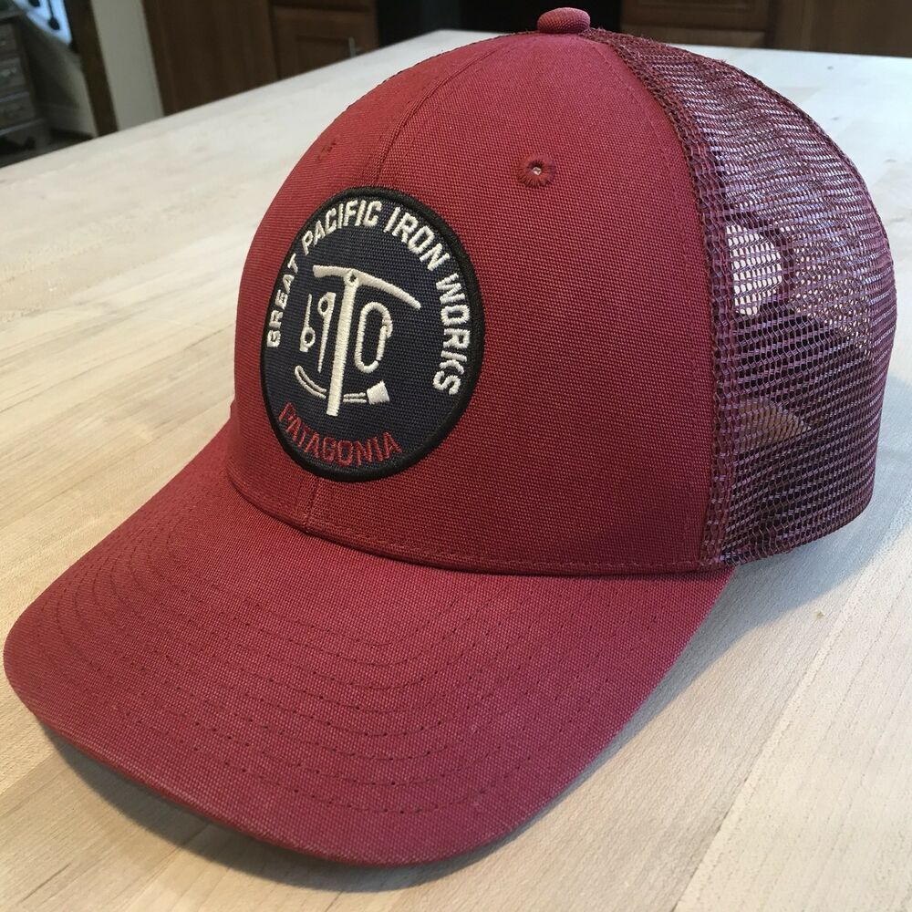 995b7d53c2604 Details about Patagonia Great Pacific Iron Works Trucker Hat - Excellent -  Red - Ultra Rare