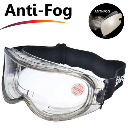 Safeyear Safety Goggles Glasses Anti Fog Scratch Resistant UV Protective Z87+