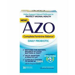 AZO Complete Feminine Balance Women's Daily Probiotic | Clinically Proven to