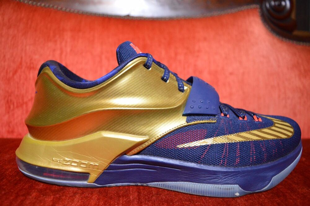 pretty nice 45f21 507a5 CLEAN Nike KD 7 VII PRM Gold Medal Size 12 706858 476 jordan bhm what the  OG ALL   eBay