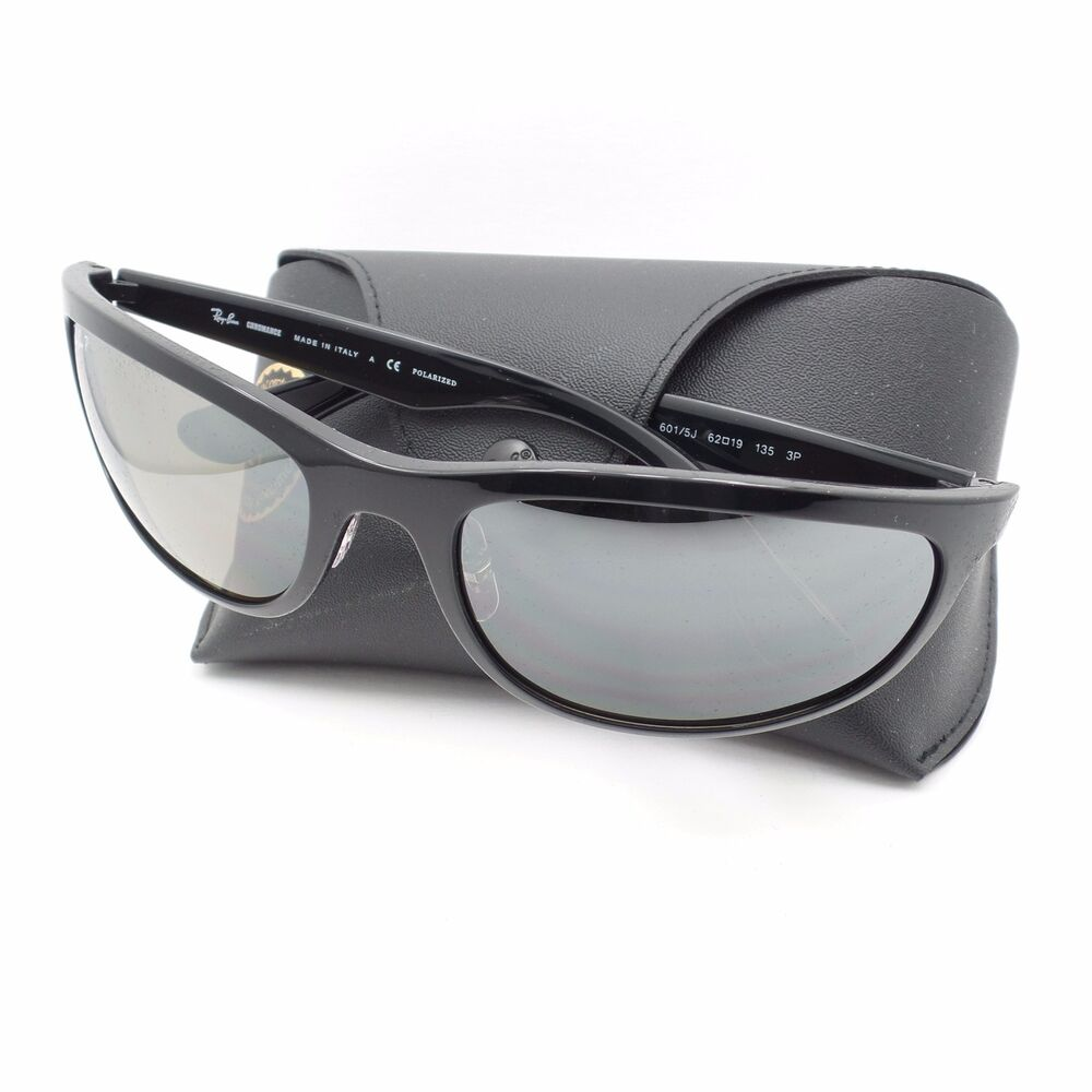bc9c865a9e Details about Ray Ban 4265 601 5J Black Silver Fade Mirror Polar New  Authentic Sunglasses r