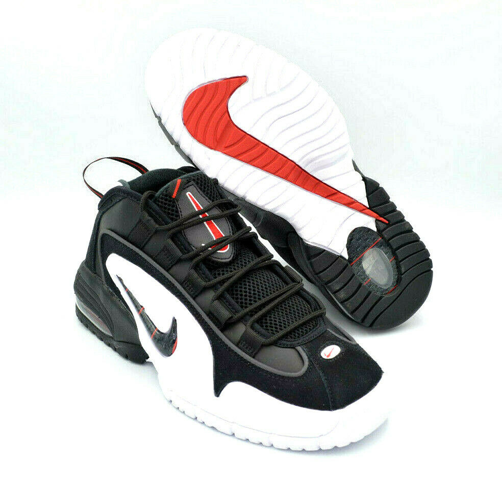 6ed1fac6fe Details about Nike Air Max Penny 1 Hardaway Black White Red Mens Shoes  [685153-003] Multi Size
