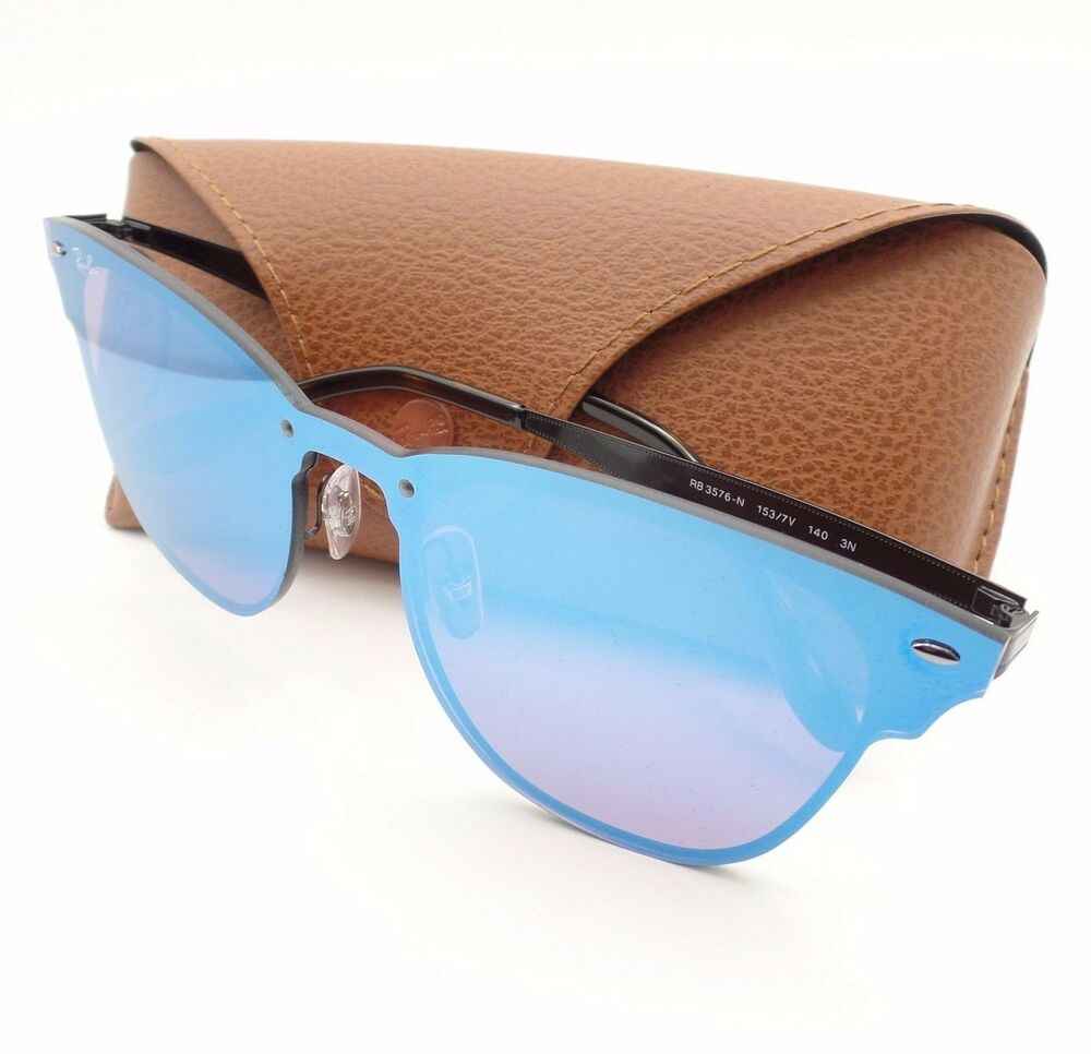 df1f6dad39 Details about Ray Ban 3576 N 153 7V Gloss Black Blue Violet Mirror 47  Sunglasses Authentic