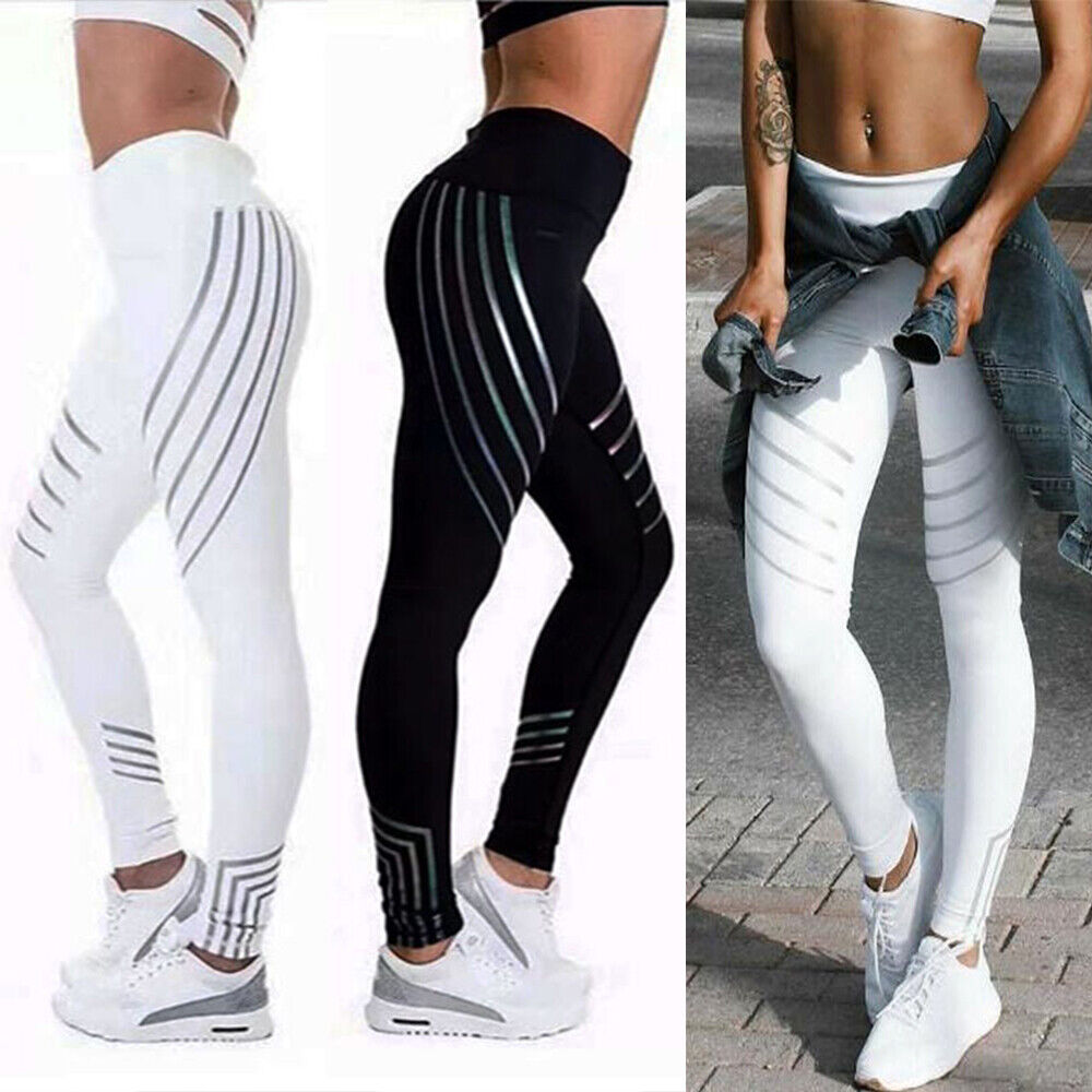 756131437c68 Details about Women Yoga Pants Ladies Fitness Leggings Running Gym Exercise  Sports Trousers AM