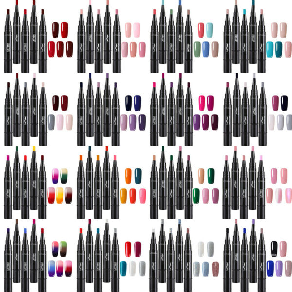 5Pcs LEMOOC Nail Art Vernis à Ongles Semi-permanent UV Gel Polish Manucure 5ml