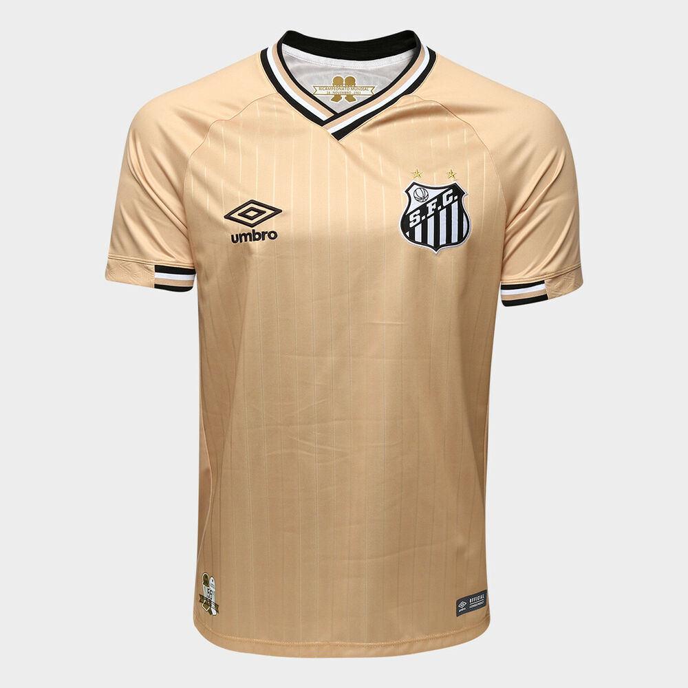 65e6dc14d Details about Santos Third Golden Soccer Football Jersey Shirt - 2018 2019  Umbro Brazil