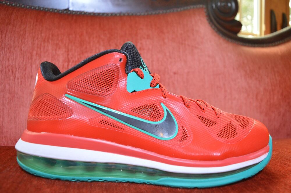 buy popular 25b12 1c8ea Details about CLEAN Nike Air Max LEBRON IX 9 Low LIVERPOOL RED BLACK WHITE  510811-601 Size 8.5