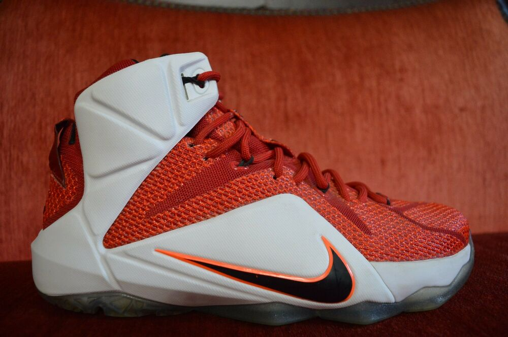 low priced a3246 008c6 Details about CLEAN Nike Lebron XII 12 Heart Of A Lion White Red Black Air  Jordan 684593 601 8