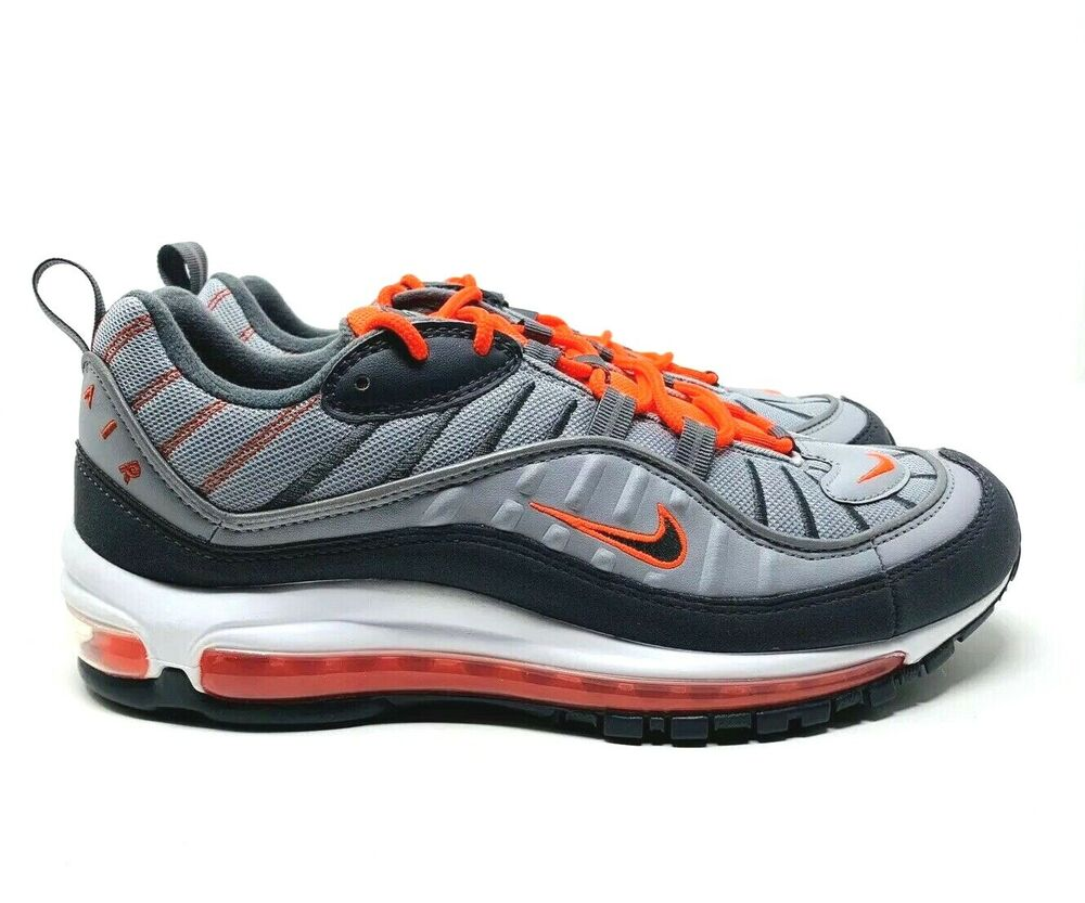 online store 54497 3d718 Details about Nike Air Max 98 Wolf Grey Total Crimson 640744-006 Men s Size  9.5